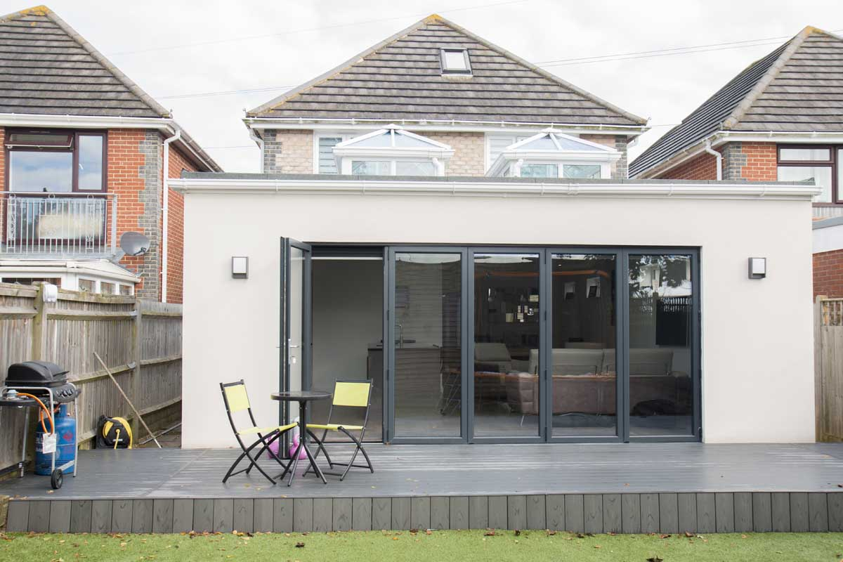 House extension for new kitchen and family room in Sussex
