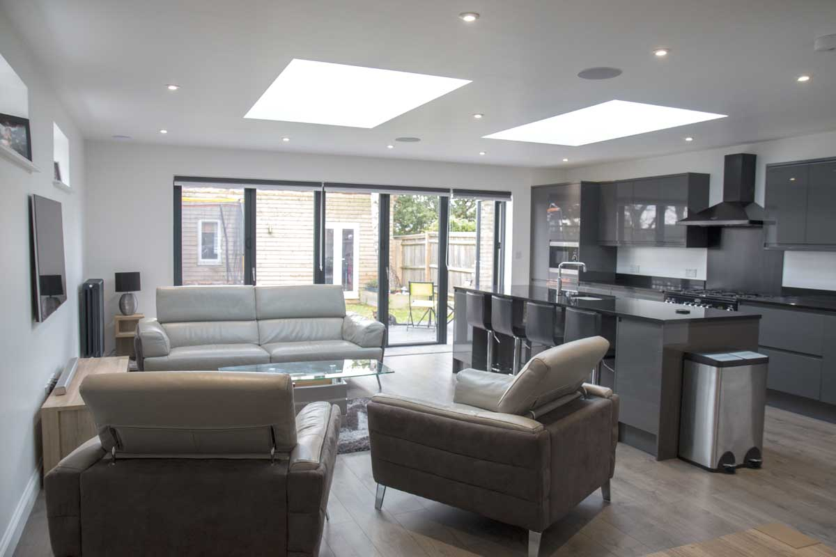House extension created by Metrix Contractors builders in Sussex