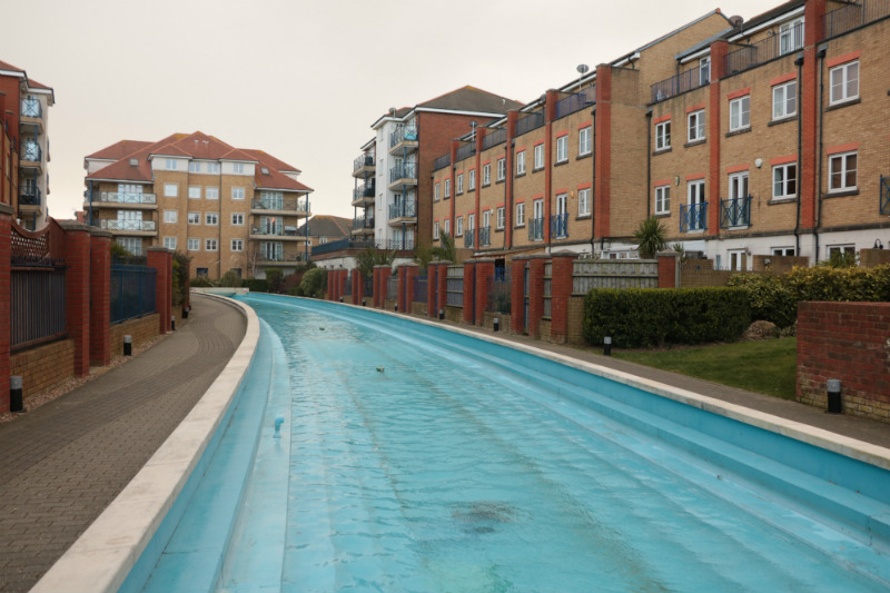 Columbus Point Water Feature in Sovereign Harbour Metrix Contractors Refurbishment